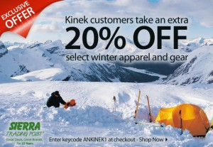 Kinek -Sierra Trading Post promotion